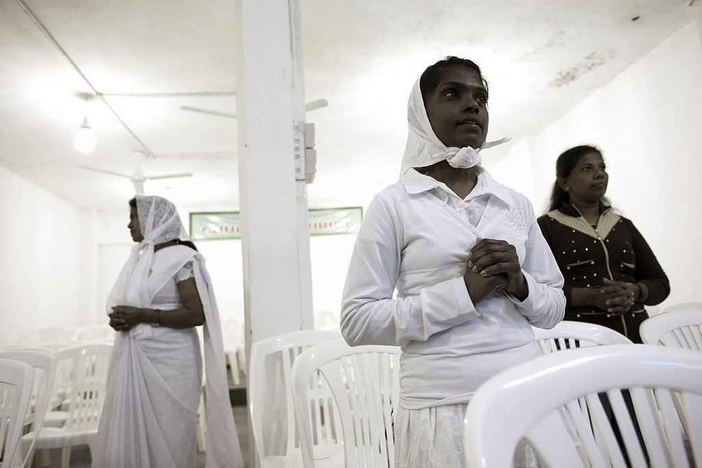 Exorcism in Beirut. Sri Lanka maid workers christian community