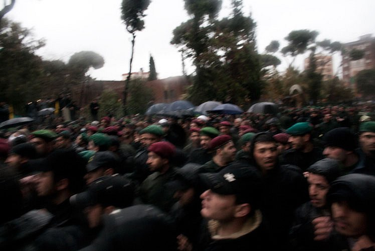 "Funerals after the assasination in Damascus Imad Mughniyah ""The Fox"""